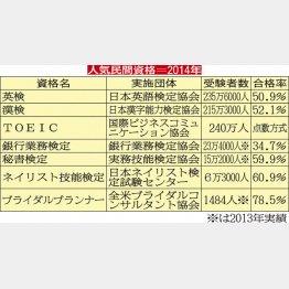 その他の人気民間資格(C)日刊ゲンダイ