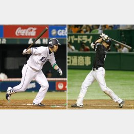 首位打者争いを演じている秋山(左)と柳田(C)日刊ゲンダイ