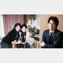 生前の山田五十鈴さんとのツーショット写真(左)/(C)日刊ゲンダイ