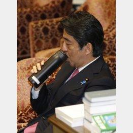 安全保障関連法案審議での安倍首相(C)日刊ゲンダイ