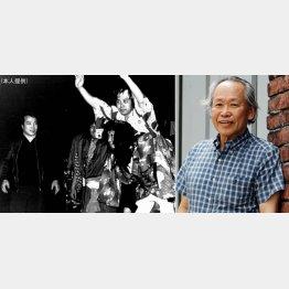 左は唐十郎氏、赤塚不二夫氏を肩車しているのが十貫寺さん(C)日刊ゲンダイ