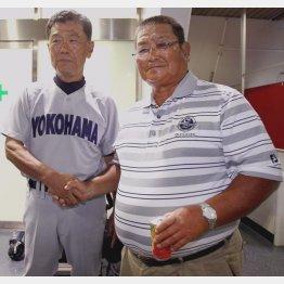 横浜高校・渡辺監督(左)と小倉清一郎氏(C)日刊ゲンダイ