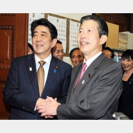 安倍首相と公明党の山口代表(C)日刊ゲンダイ