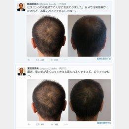 7月16日(上)と4月27日の東国原氏のツイート