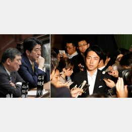 方向性が合う石破地方創生相(左)と小泉政務官(右)(C)日刊ゲンダイ