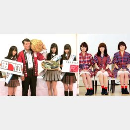 NGT48(左)とNegicco(C)日刊ゲンダイ