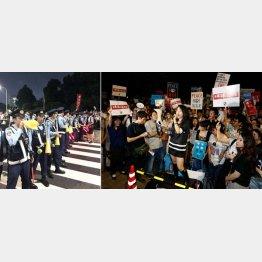 SEALDsの活動(右)は全国に波及している(C)日刊ゲンダイ