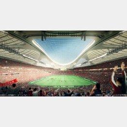 国民はシンプルな競技場を希望(日本スポーツ振興センター提供)