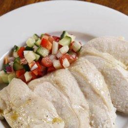 茹で鶏 夏野菜サルサ添え(教える人:和知徹さん「マルディグラ」)