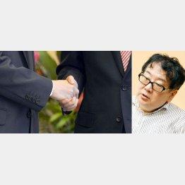 右が上野誠奈良大教授(C)日刊ゲンダイ