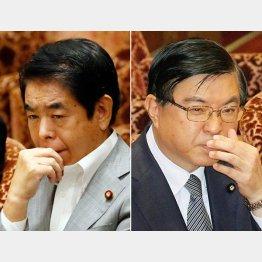 下村文科相と礒崎首相補佐官(C)日刊ゲンダイ