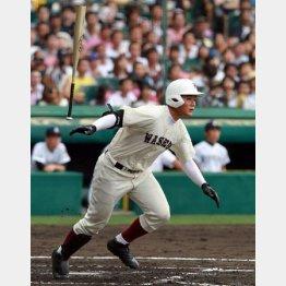 九州国際大付戦で第2号本塁打を放った清宮(C)日刊ゲンダイ
