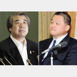 会長指名で理事に就任した上村春樹氏(左)と山下泰裕氏(C)日刊ゲンダイ