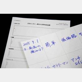 手書きが大事(C)日刊ゲンダイ