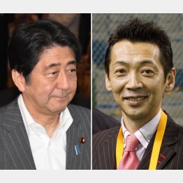 安倍首相と宮根誠司氏(C)日刊ゲンダイ