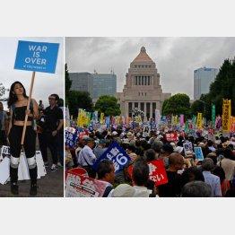 SEALDs(左)だけで15万人の動員が可能(C)日刊ゲンダイ