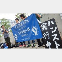 学生が議員会館前で行ったハンスト(C)日刊ゲンダイ