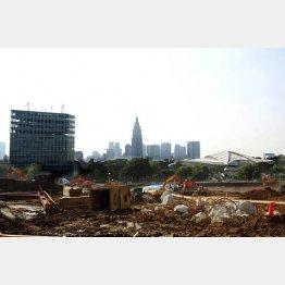 新国立競技場の建設予定地(C)日刊ゲンダイ