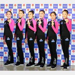 リオ五輪出場を決めた新体操日本代表選手たち(C)日刊ゲンダイ