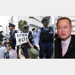 有田芳生(右)は徹底抗議の方針(C)日刊ゲンダイ