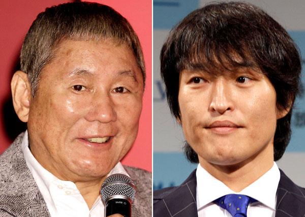 ビートたけし(左)と千原ジュニア(C)日刊ゲンダイ