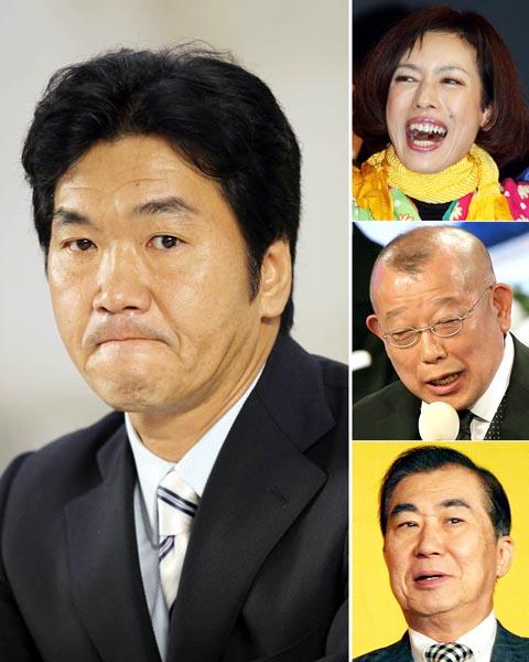 左から時計回りに、島田紳助、久本雅美、鶴瓶、桂三枝(C)日刊ゲンダイ