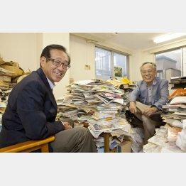 佐高信氏(右)と二木氏(C)日刊ゲンダイ