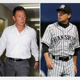 次期監督候補といわれている金本氏(左)と今季限りが確実な和田監督