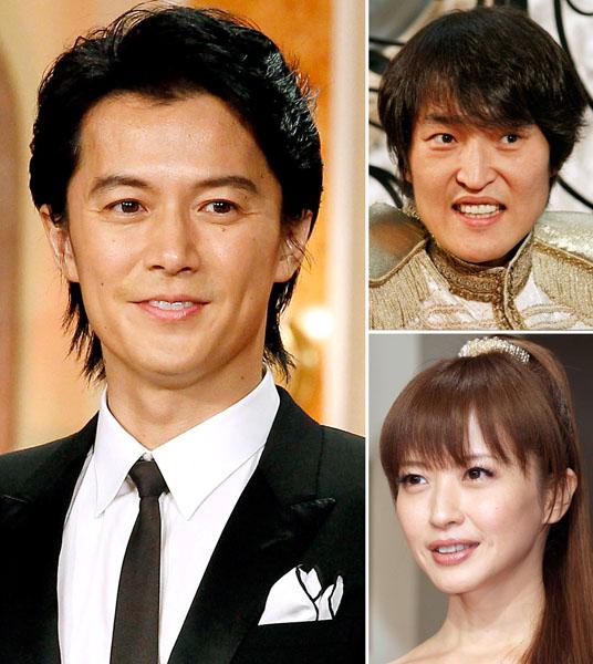 左から時計回りに福山雅治、千原ジュニア、三浦理恵子(C)日刊ゲンダイ