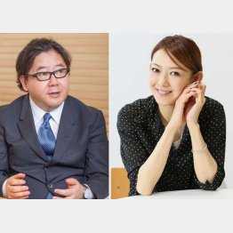 「秋元さんのおかげ」と姿月あさとさん(C)日刊ゲンダイ