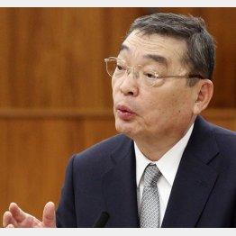 公平性をアピールした籾井NHK会長(C)日刊ゲンダイ