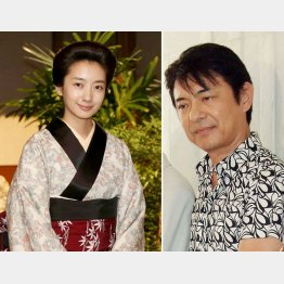 ヒロイン波瑠(左)の父親役を演じる升毅
