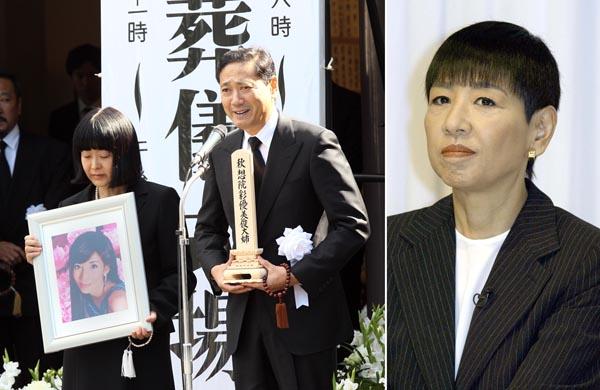 川島さんを大勢が見送った(左)(C)日刊ゲンダイ
