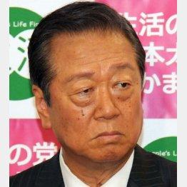 2日に談話を発表した小沢一郎氏(C)日刊ゲンダイ