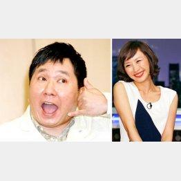 爆笑問題の田中裕二と山口もえ(C)日刊ゲンダイ