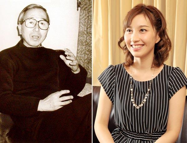 中田喜直(左)とはいだしょうこ(C)日刊ゲンダイ