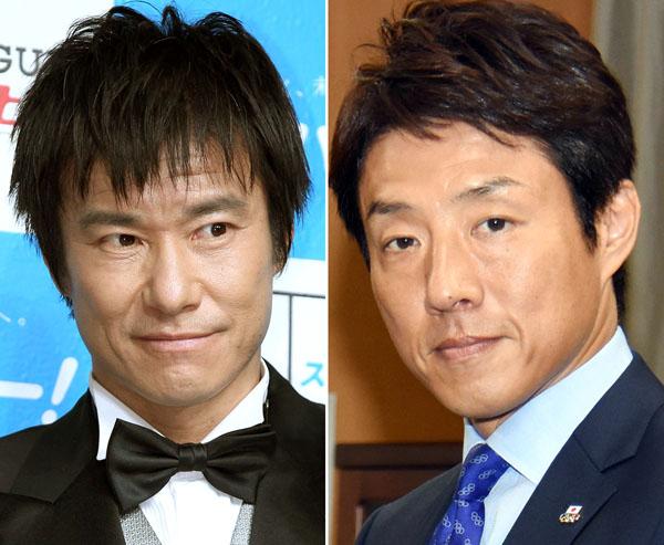 中山雅史(左)と松岡修造(右)(C)日刊ゲンダイ