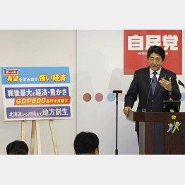 安倍首相の「新3本の矢」(C)日刊ゲンダイ