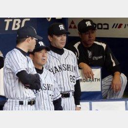 和田監督を囲むコーチ陣