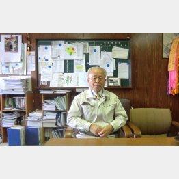 12年12月、町長時代の井戸川氏(C)岡邦行