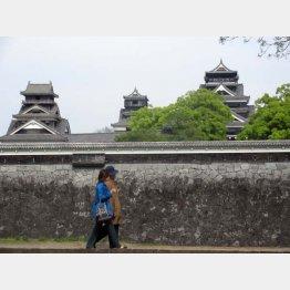 熊本城の3つの高層やぐら