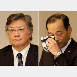 旭化成建材・前田社長(左)と旭化成・浅野社長