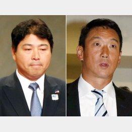 ヤクルトの真中監督と阪神の金本監督