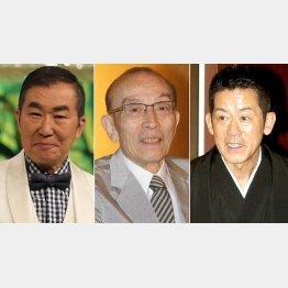 左から桂文枝、桂歌丸、三遊亭円楽(C)日刊ゲンダイ