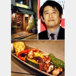 坂上忍のオススメは「タコの香草バター焼き」(写真下)(C)日刊ゲンダイ