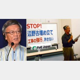 「翁長知事が認めなければ工事はできない」と北上田氏(C)日刊ゲンダイ