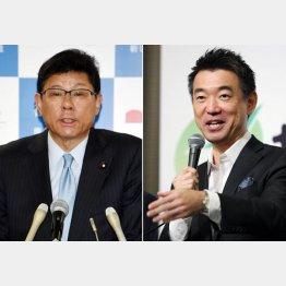 高木復興相(左)の辞任ダメージを薄める意味合いか(C)日刊ゲンダイ