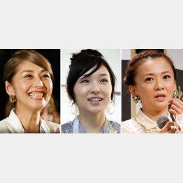 (左から)熊切あさ美、加護亜依、華原朋美