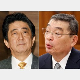 安倍首相と籾井NHK会長(C)日刊ゲンダイ