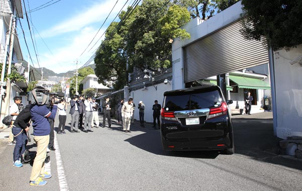 5日、山口組総本部で定例会を開催した(C)日刊ゲンダイ